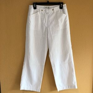 🔴🔴 JONES NEW YORK SPORT WHITE LINEN PANTS 4